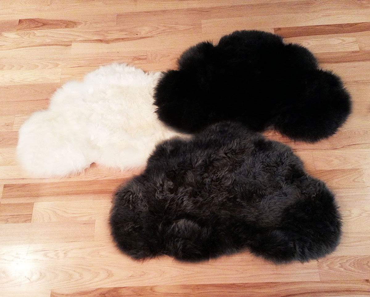 Seattle Clouds Sheepskin Rugs