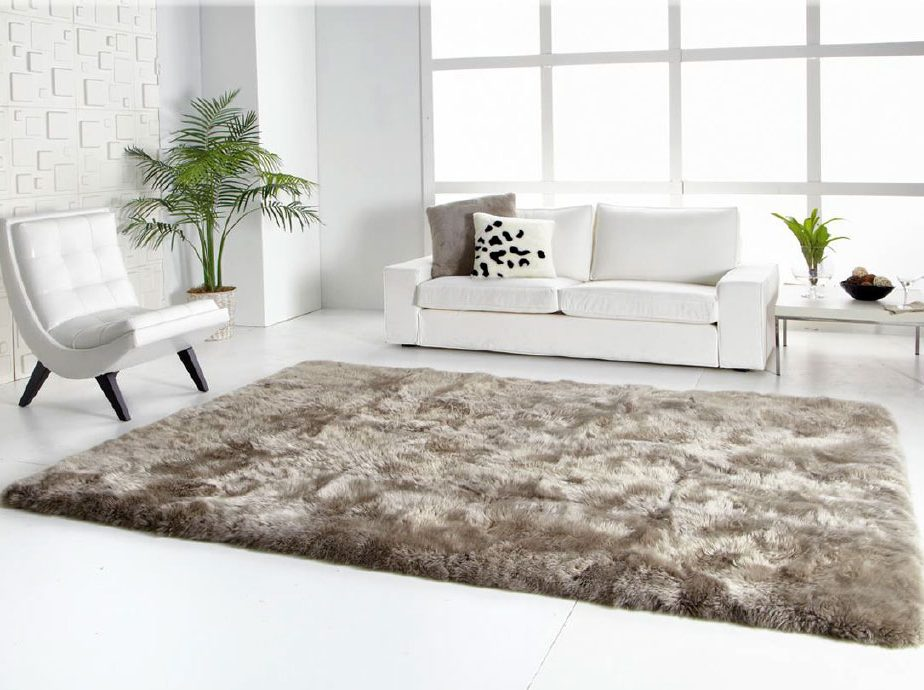 Charming ... Long Wool Straight Edge Sheepskin Rug