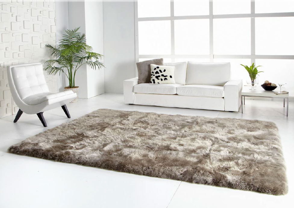 Long Wool Straight Edge Sheepskin Rug