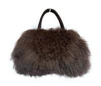 tibetan-lambskin-fur-purse dark brown