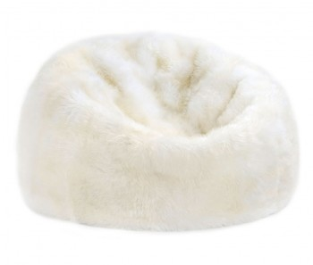 Sheepskin Bean Bag Chair Ivory