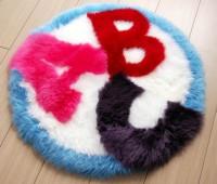 Kid's Sheepskin Rug ABC