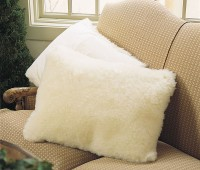 Washable wool pillow shams