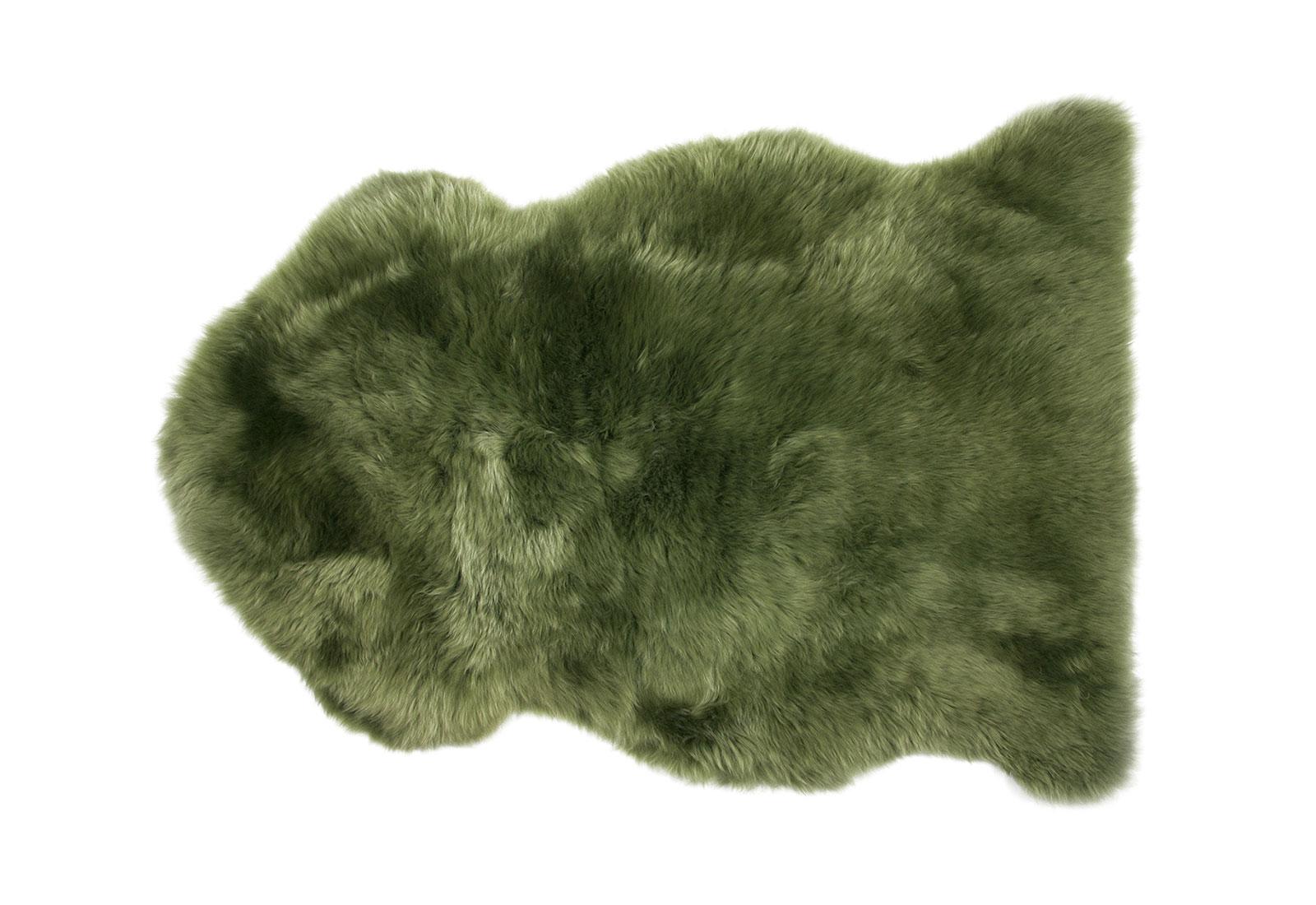 Green Sheepskin Rug