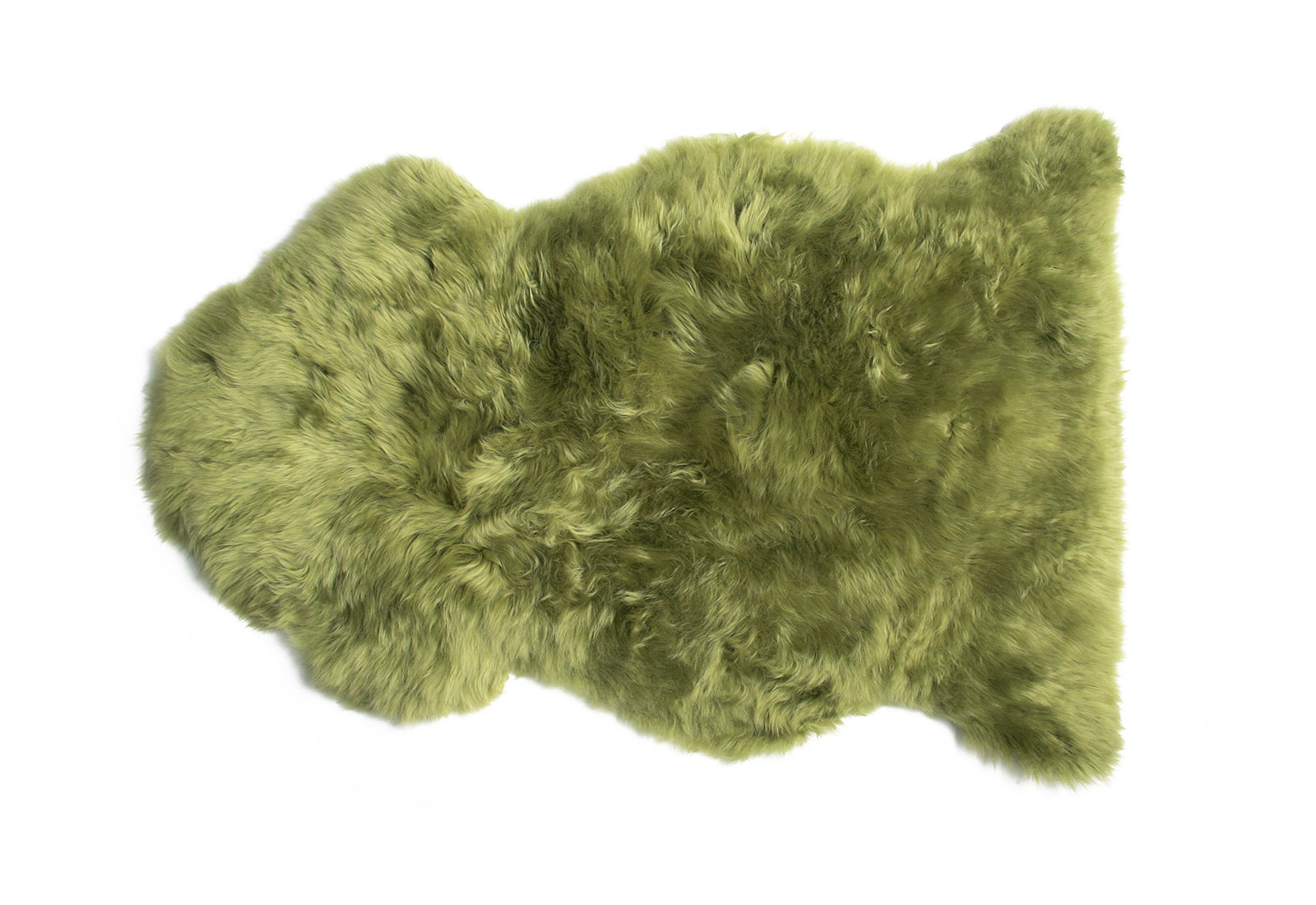 Lime Green Sheepskin Rug