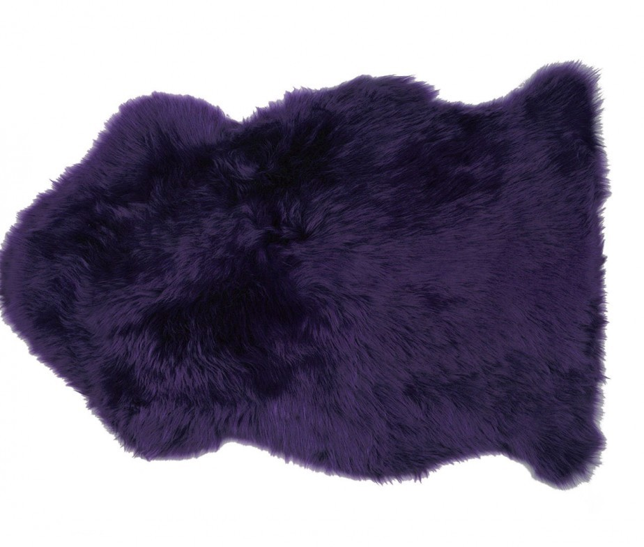 Sheepskin Rug Premium Auskin Loganberry Purple