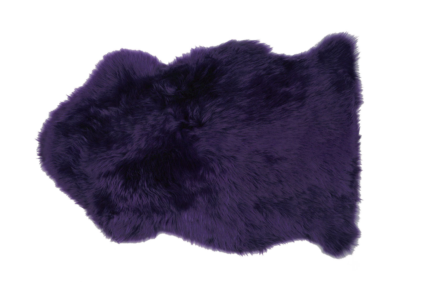Dark Purple Sheepskin Fur Rug