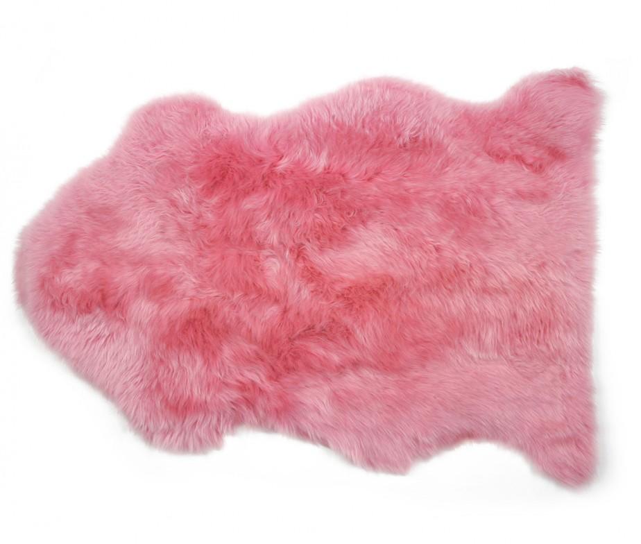 Sheepskin Rug Premium Auskin Magenta Pink