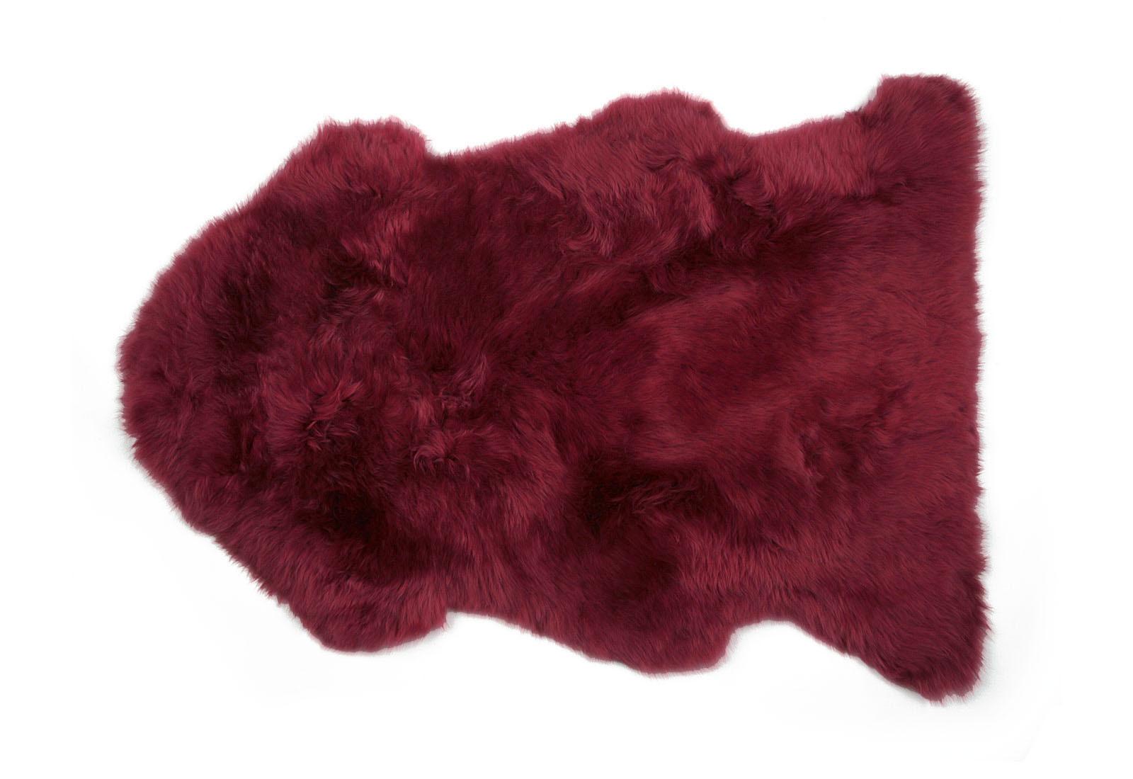 Raspberry Red Sheepskin Rug