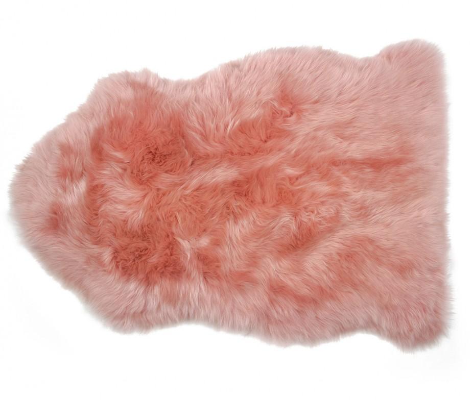 Sheepskin Rug Premium Auskin Salmon Pink Ultimate Sheepskin