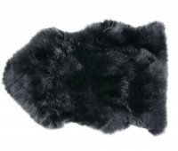 Dark Gray Sheepskin Fur Rug
