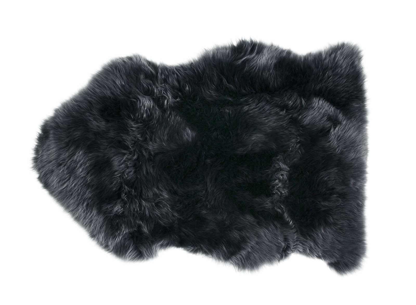 Dark Gray Sheepskin Fur Rug