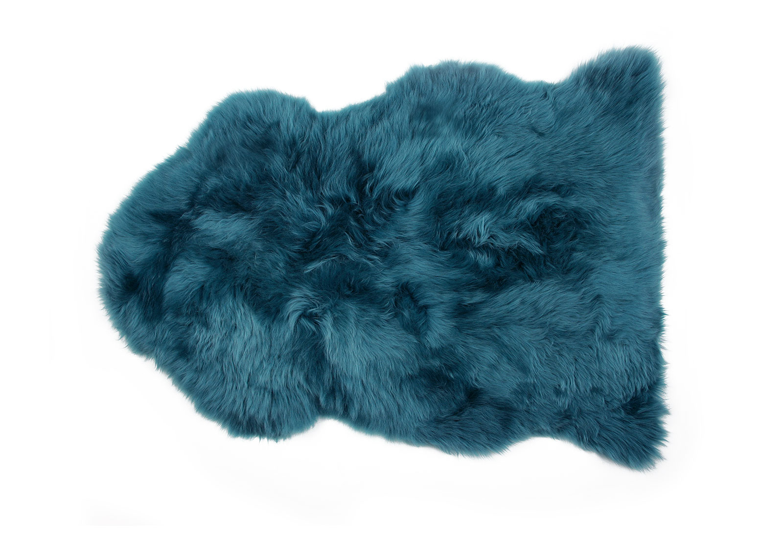 Blue Green Sheepskin Rug