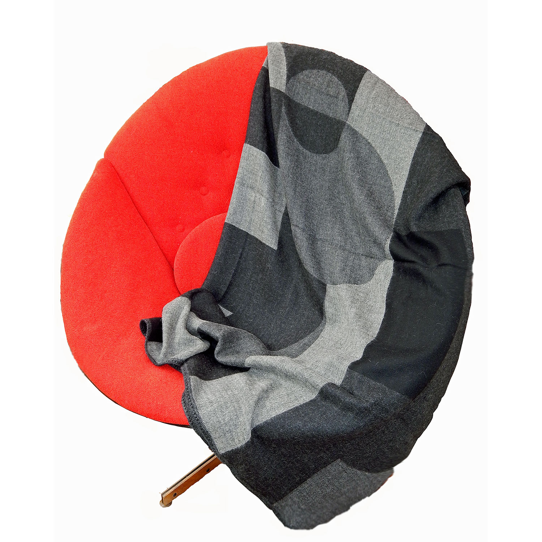 Geometric Throw Red Chair