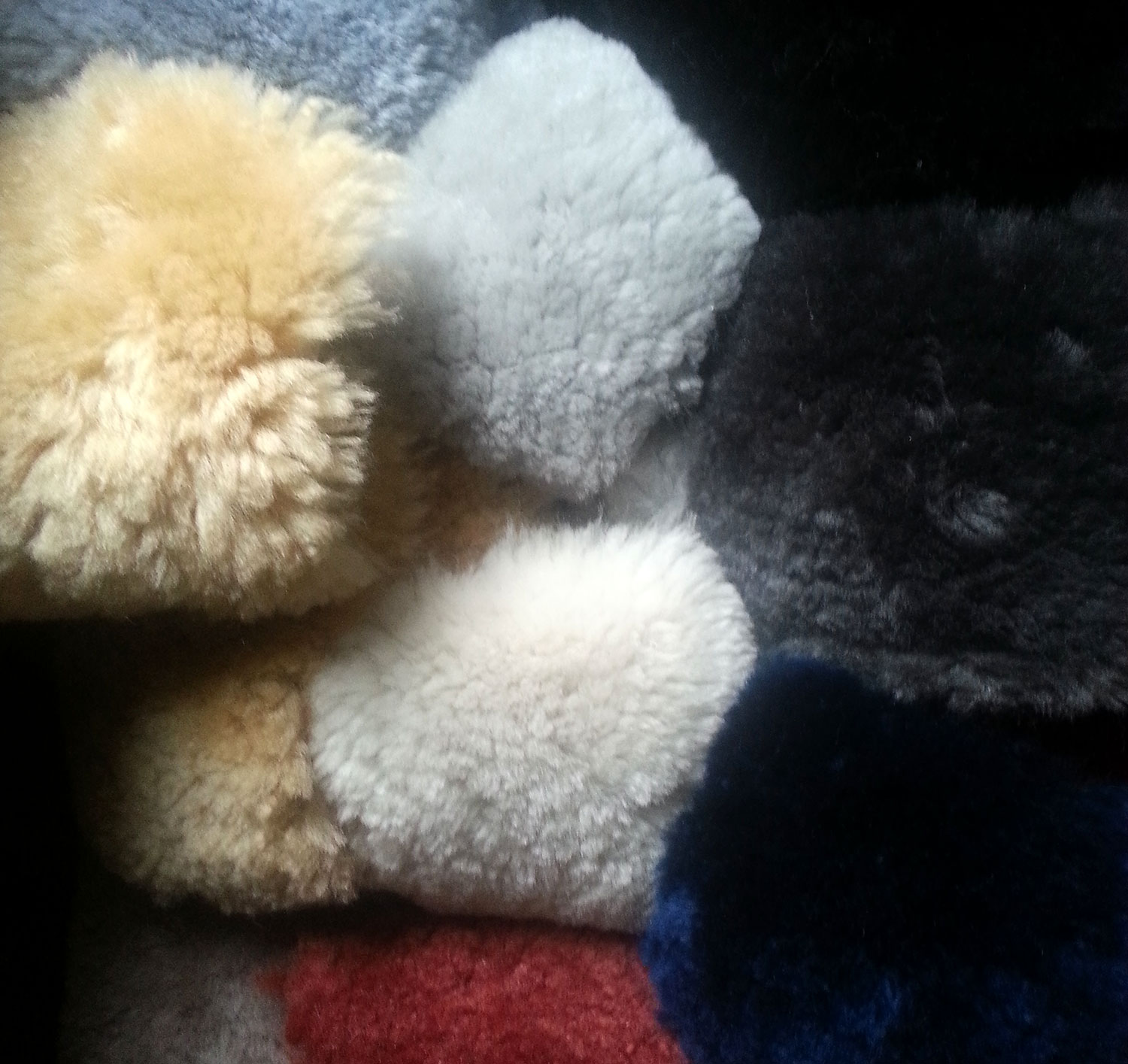 US Sheepskin Shortwool Swatches