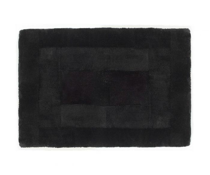 Shearling Designer Rug Atrium Black