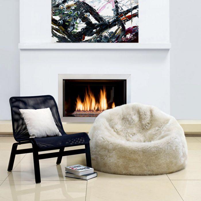 Large Beag Bag Chair Linen Beige