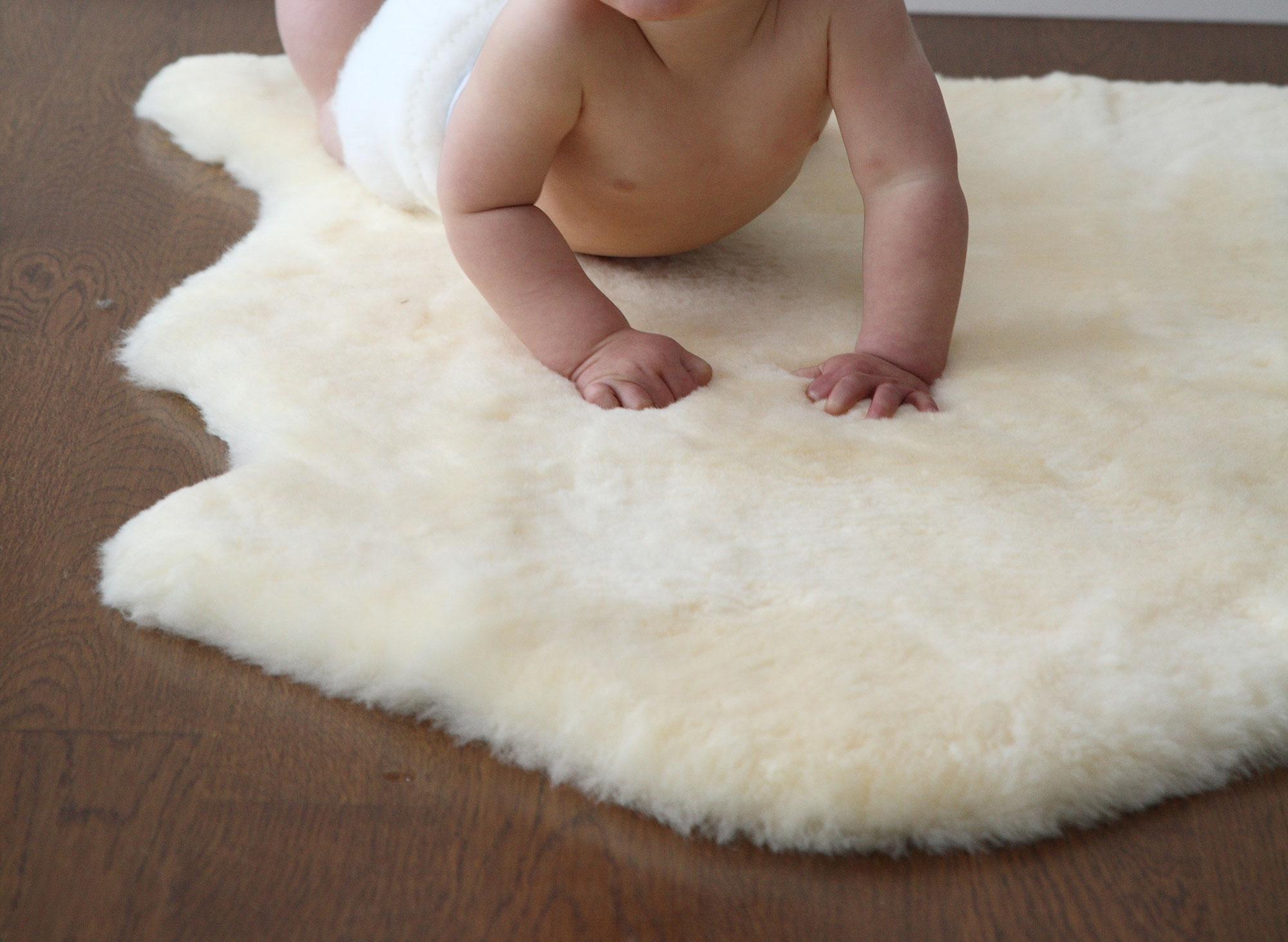 Shorn Sheepskin Infant Care Rug for Baby