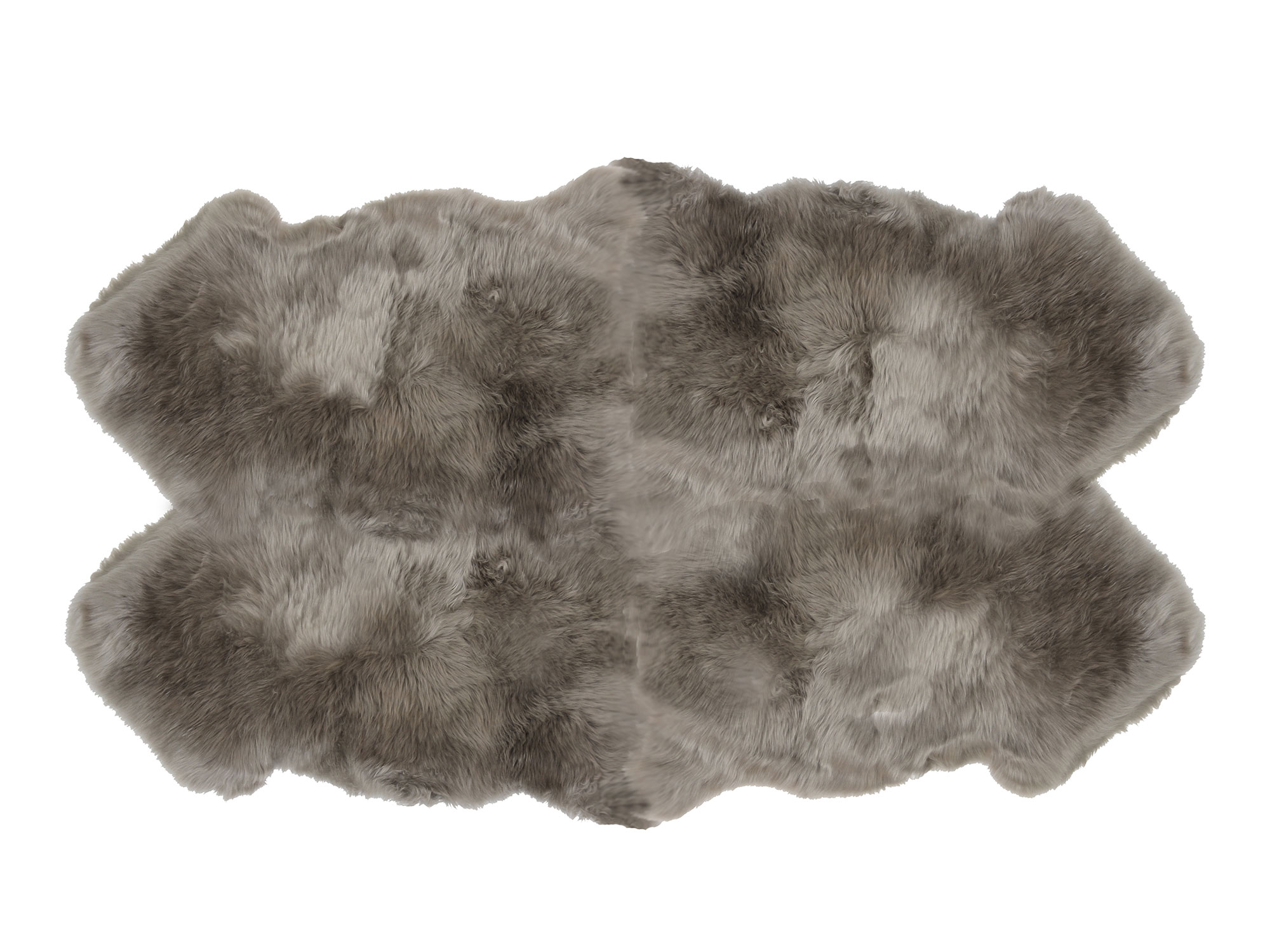 Sheepskin 4 Pelt Large Fur Rugs Gray