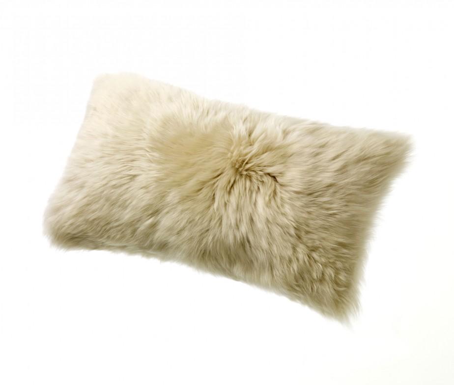 Sheepskin Motorcycle Seat Covers >> Sheepskin Pillows 11″ x 22″ Fur Cushions Tan Linen | Ultimate Sheepskin