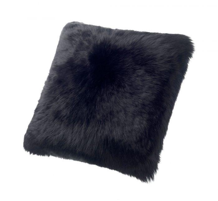 Sheepskin Pillow Black