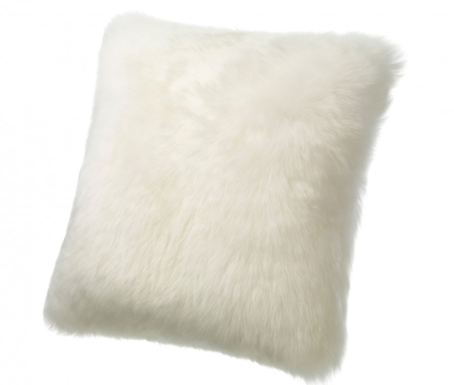 Floor Cushions Or Pillows : Sheepskin Pillows Large 32? Fur Floor Cushions Ivory Ultimate Sheepskin