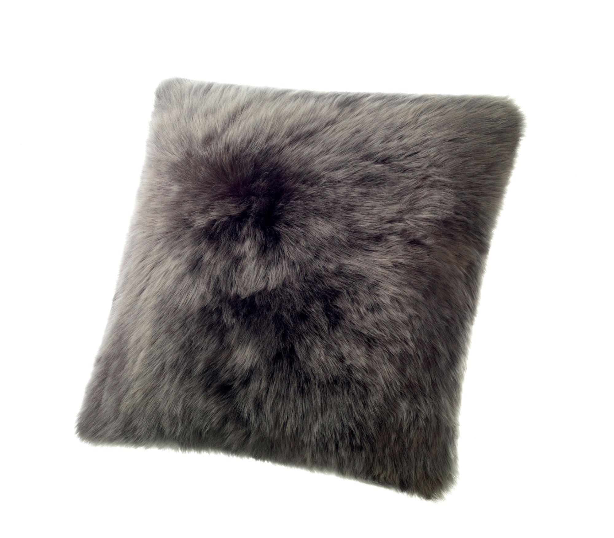 Sheepskin Pillow Dark Gray