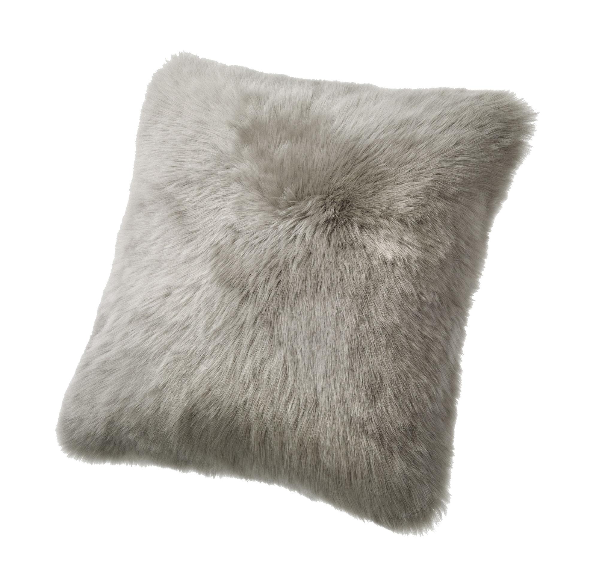 fibre by auskin sheepskin pillows ″ vole – ultimate sheepskin - sheepskin pillow gray