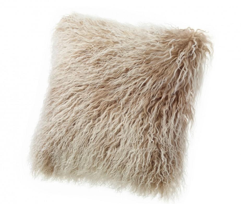 Brown Fur Throw Pillows : Tibetan Lambskin Throw Pillows Curly Fur Cushions 20? Square Brown Ultimate Sheepskin