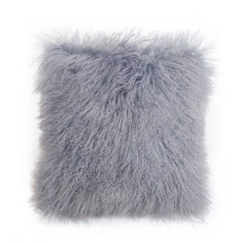 Tibetan Lambskin Pillow Dove Gray