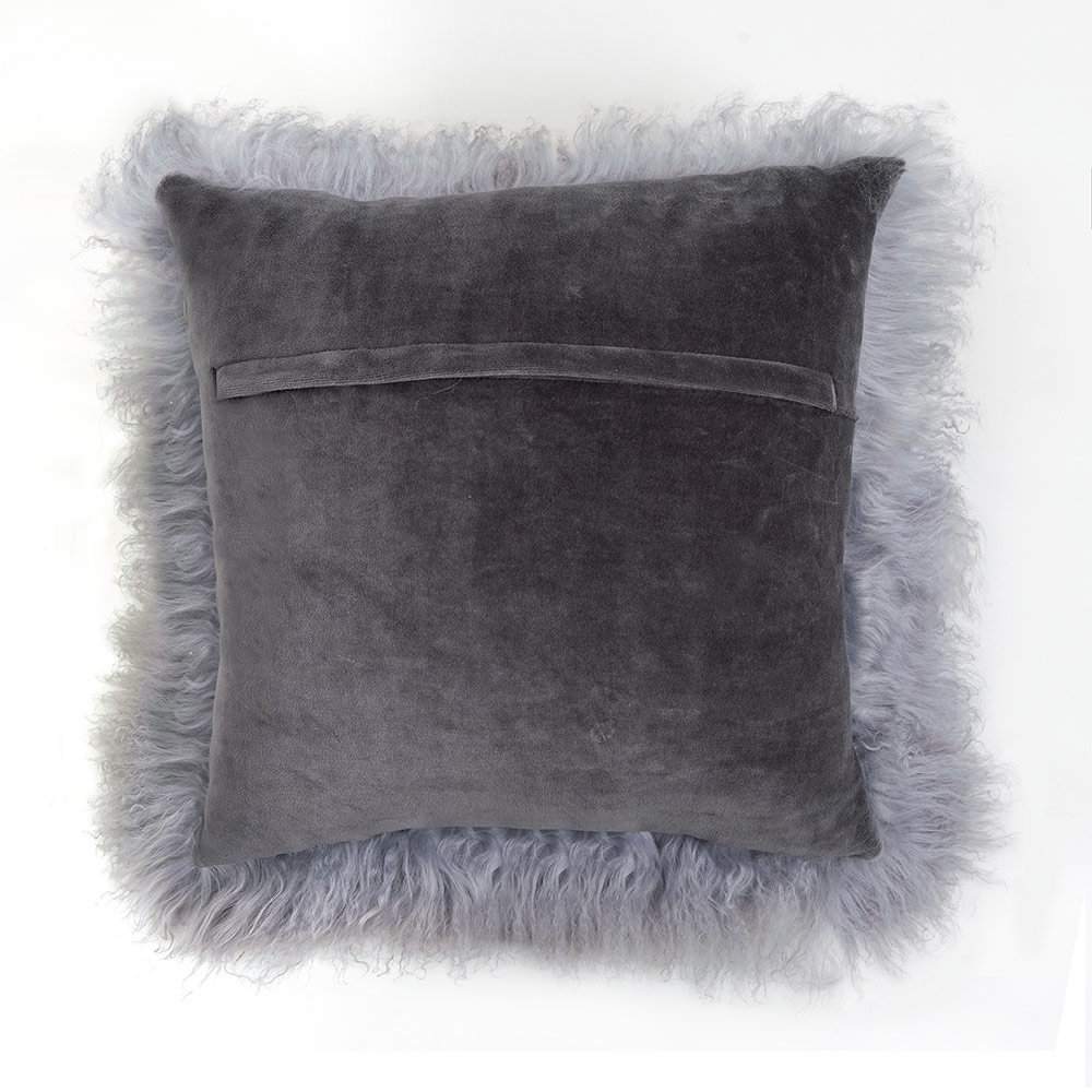 Marvelous Fibre By Auskin Tibetan Lambskin Throw Pillows 20 Square Gray Gmtry Best Dining Table And Chair Ideas Images Gmtryco