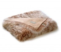 Tibetan Lambskin Curly Fur Throw Blanket