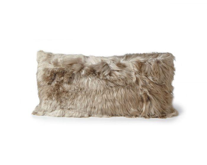 Alpaca Cushion Vole Gray