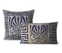 Laser cut cowhide cushions