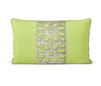 Green throw cushion