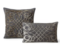 Gray Laser Cut Cowhide Cushions