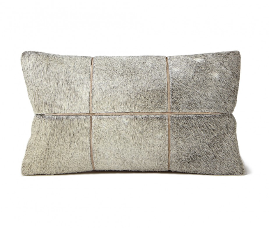 Tan Linen Throw Pillow : Throw Pillows Tan Linen Fabric Stitched on Cowhide ...