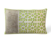 Petal Green Cowhide Cushion