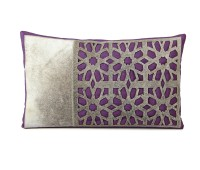 Purple Cowhide Cushion