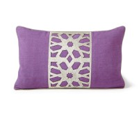 purple linen cushions