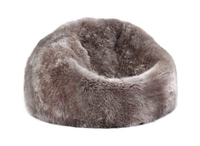 Sheepskin Bean Bag Chair Taupe