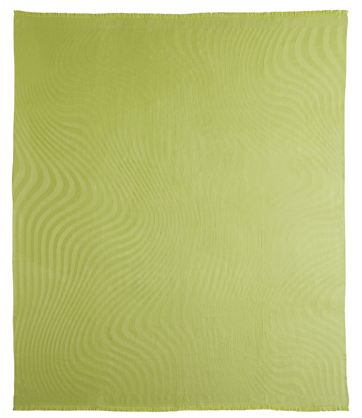 Leaf Green Baby Alpaca Throw