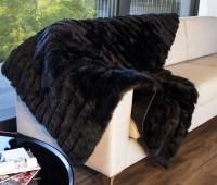 Black Minx Lambskin Fur Throw Blanket
