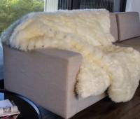 Ivory Minx Lambskin Fur Throw Blanket
