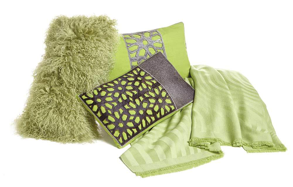 Green Pillows and Throws