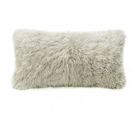 Curly Fur Sheepskin Pillow Bamboo Beige