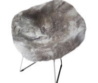 Bertoia Style Diamond Wire Chair Sheepskin Cover