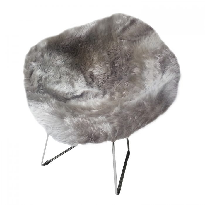 Bertoia Style Diamond Wire Chair Sheepskin Cover