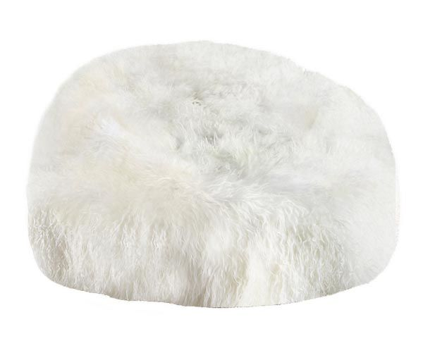 white bean bag chair FIBRE by AUSKIN Tibetan Lambskin Bean Bag Chair 3′ Filled White  white bean bag chair