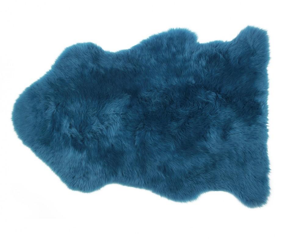 Sheepskin Rug Premium Auskin Teal Blue